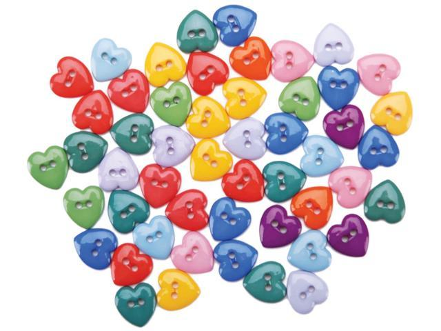 Dress It Up Embellishments-Mini Simple Heart Buttons - Primary