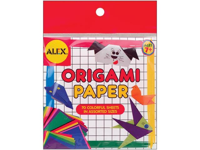 Origami Paper 70/Pkg-Assorted Sizes & Colors