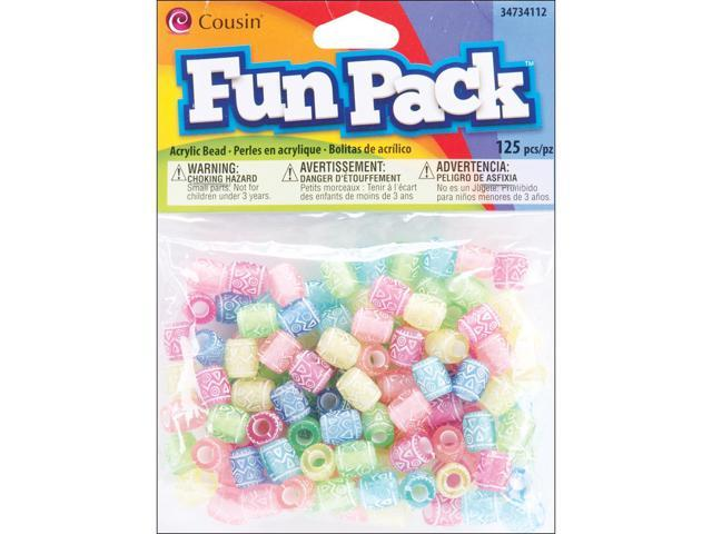 Fun Pack Acrylic Pony Beads 125/Pkg-Assorted Deco