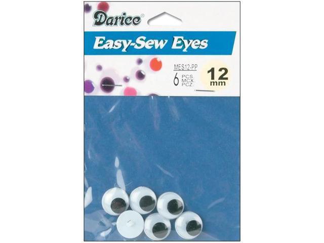 Sew-On Wiggle Eyes-12mm 6/Pkg