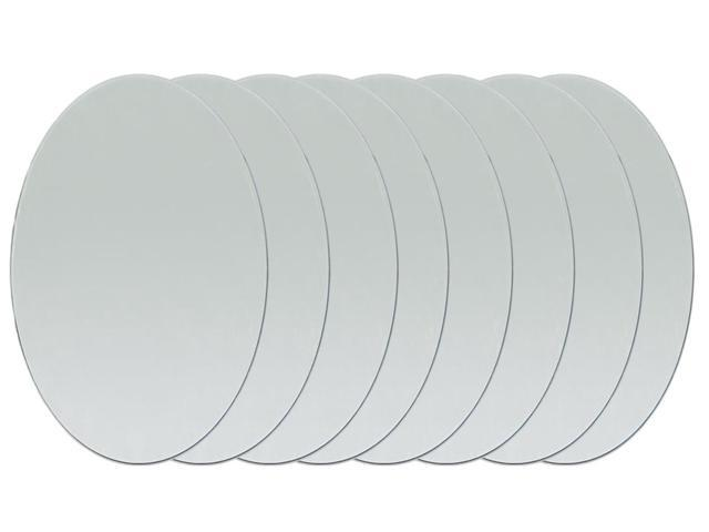 Oval Glass Mirrors 8/Pkg-1
