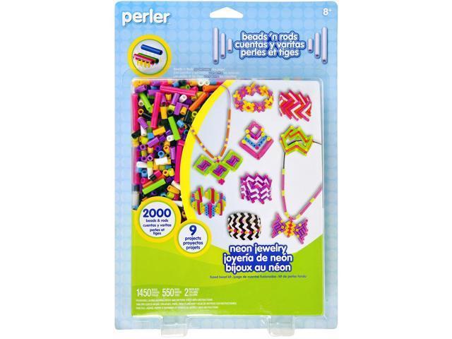 Perler Beads 'n Rods Fused Bead Kit-Neon Jewelry