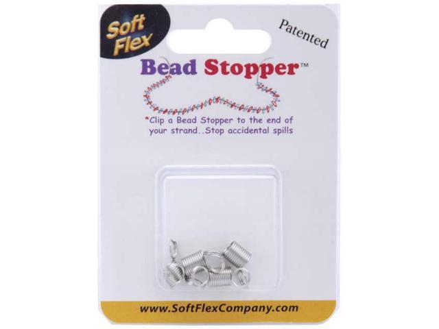 Mini Bead Stoppers 4/Pkg-Metal