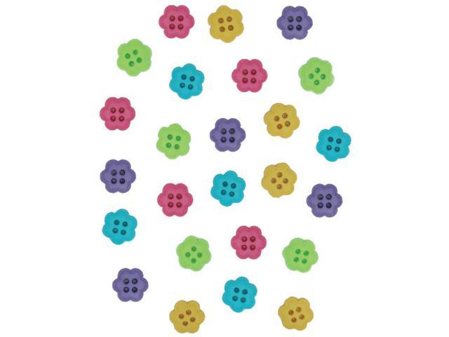 Dress It Up Embellishments-Flower Buttons - Candy
