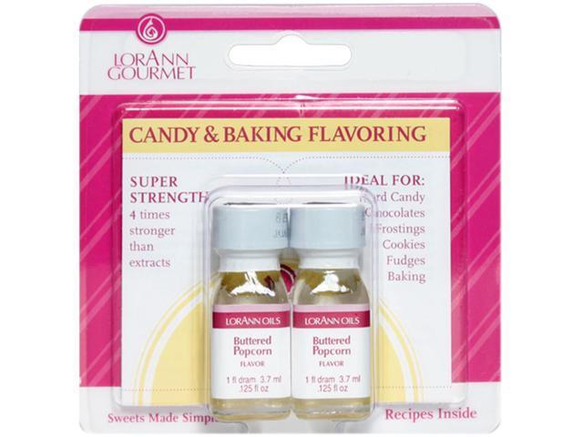 Candy & Baking Flavoring .125oz 2/Pkg-Buttered Popcorn