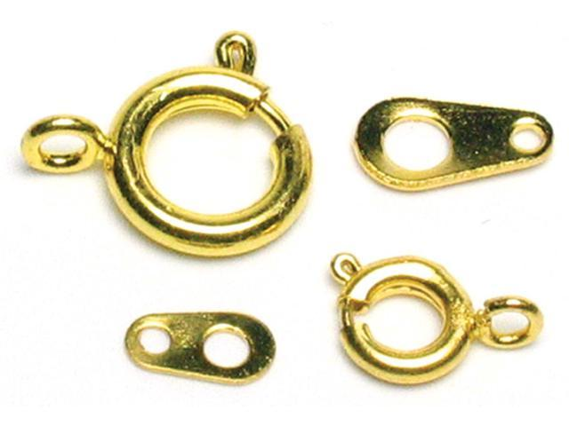 Jewelry Basics Metal Findings 26/Pkg-Gold Assorted Spring Rings