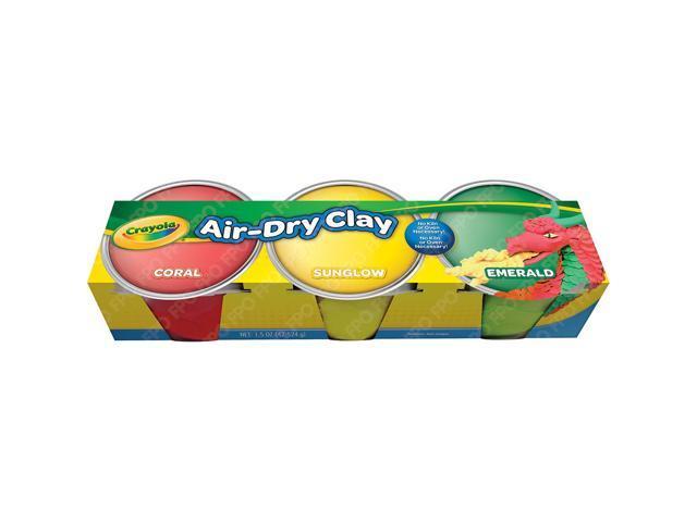Crayola Air-Dry Clay .5oz 3/Pkg-Pastels