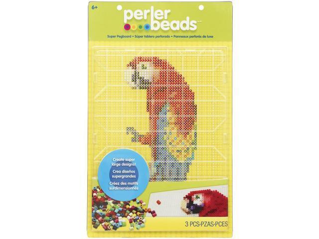 Perler Super Pegboard 1/Pkg-Rectangle Clear