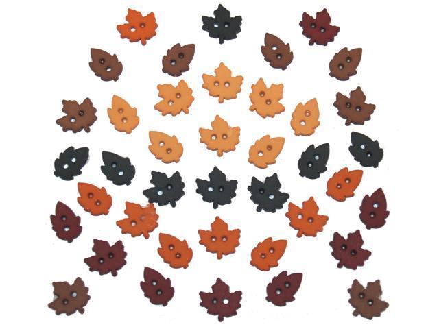 Dress It Up Holiday Embellishments-Tiny Raking Leaves