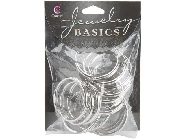 Jewelry Basics Metal Findings 15/Pkg-Silver Split Rings 1