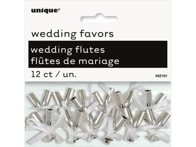 Wedding Flutes 12/Pkg-Silver