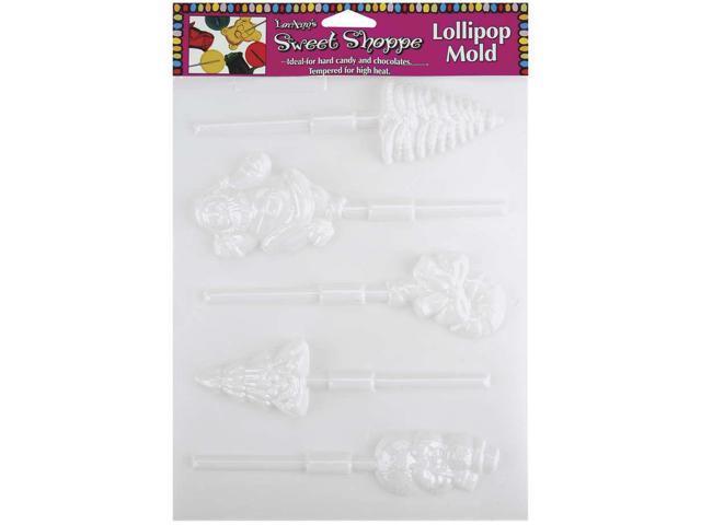 Sweet Shoppe Candy Molds-5 Cavity Christmas Lollipop