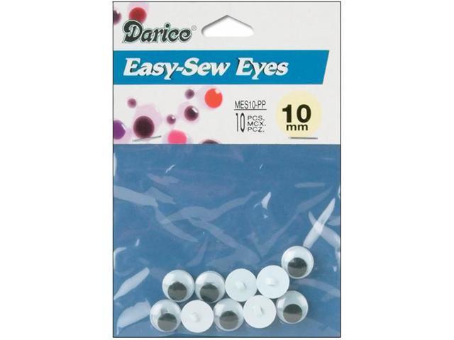 Sew-On Wiggle Eyes-10mm 10/Pkg