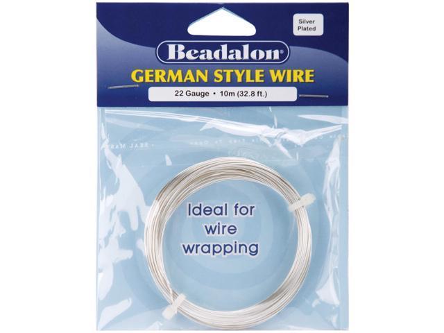 German Style Wire-Silver Round - 22 Gauge, 32.8'