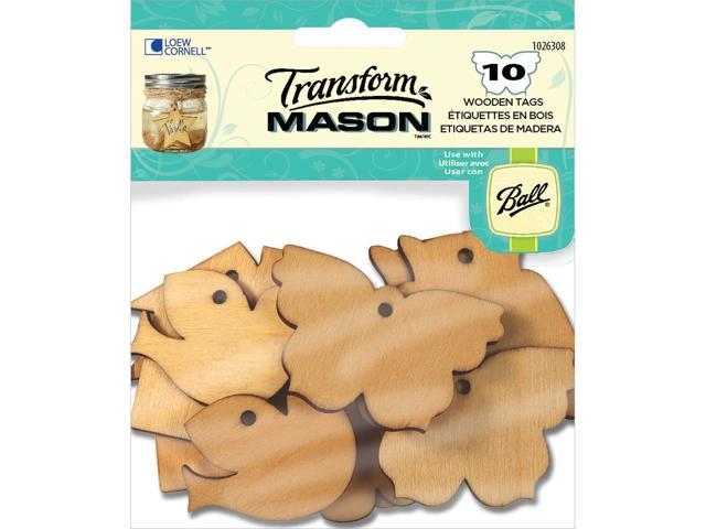 Transform Mason Wooden Tags-Home Sweet Home 10/Pkg