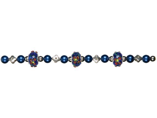 Jewelry Basics Glass Bead Mix 29/Pkg-Dark Blue Large Hole