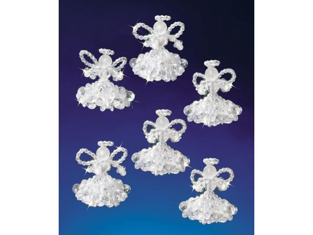 Holiday Beaded Ornament Kit-Crystal Angels 2