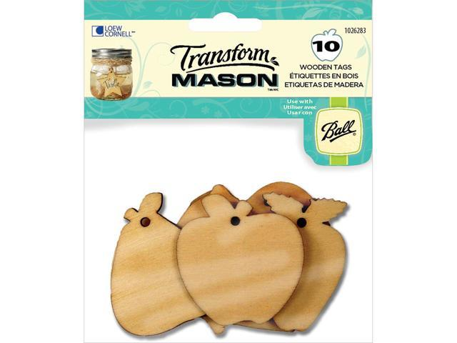 Transform Mason Wooden Tags-Fresh Fruit 10/Pkg