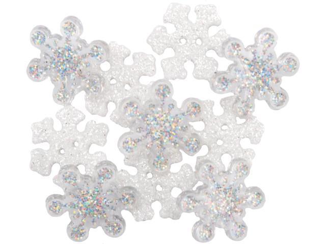 Dress It Up Holiday Embellishments-Sparkle Flakes