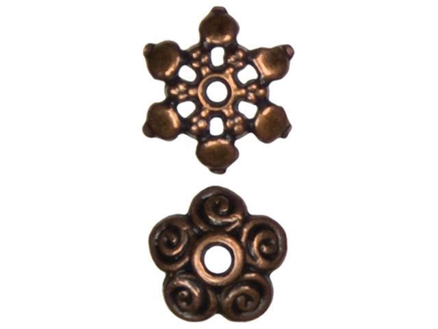 Jewelry Basics Metal Beads 11mm 60/Pkg-Copper Mixed Cap