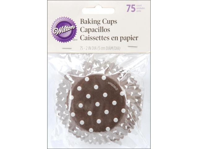 Standard Baking Cups-Brown Dots 75/Pkg