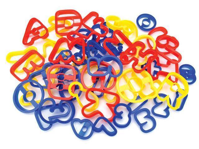 Plastic Cookie Cutters 50/Pkg-ABC & 120
