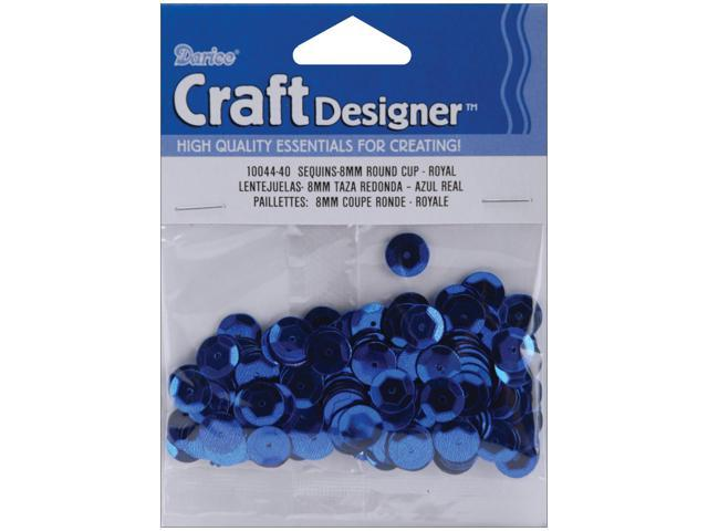 Cupped Sequins 8mm 200/Pkg-Royal Blue