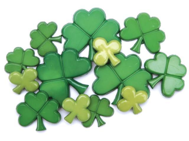 Favorite Findings Holiday Buttons-St. Patrick's Day 10/Pkg