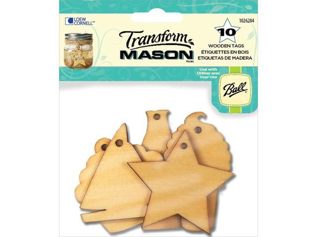 Transform Mason Wooden Tags-Summer Holiday 10/Pkg