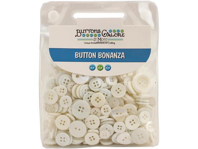Buttons Galore Button Bonanza-White