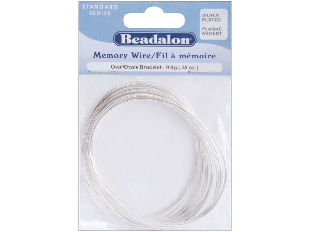 Beadalon Oval Bracelet Memory Wire Silver Plated 23Loop