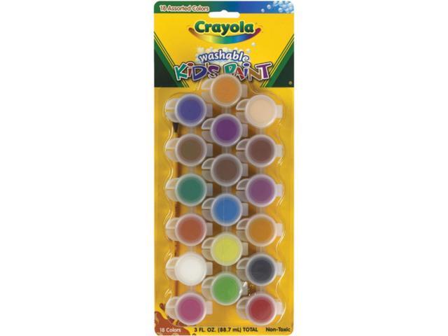 Crayola Llc Formerly Binney & Smith BIN540125 Washable Kids Paint 18Ct Paint Pots