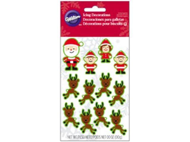 Dot Matrix Icing Decorations 12/Pkg-Santa & Elves