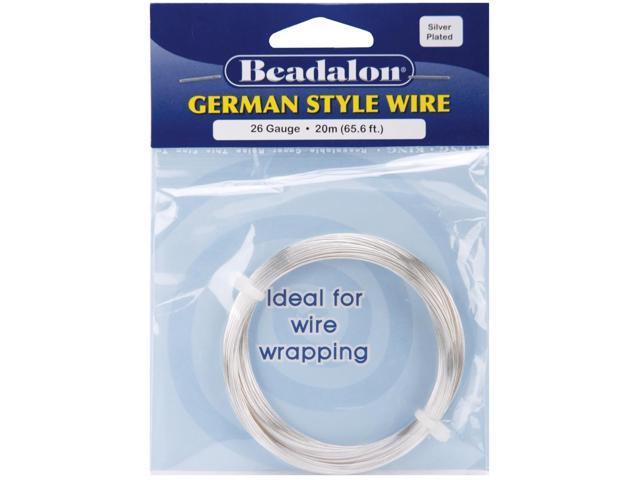 German Style Wire-Silver Round - 26 Gauge, 65.5'