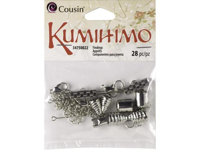 Kumihimo Assorted Metal Findings 36/Pkg-Silver