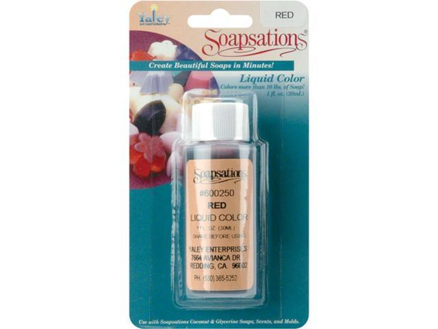 Soapsations Liquid Color 1 Ounce Bottle-Red