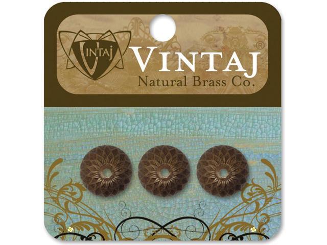 Vintaj Metal Bead Caps-Acorn 13mm 3/Pkg