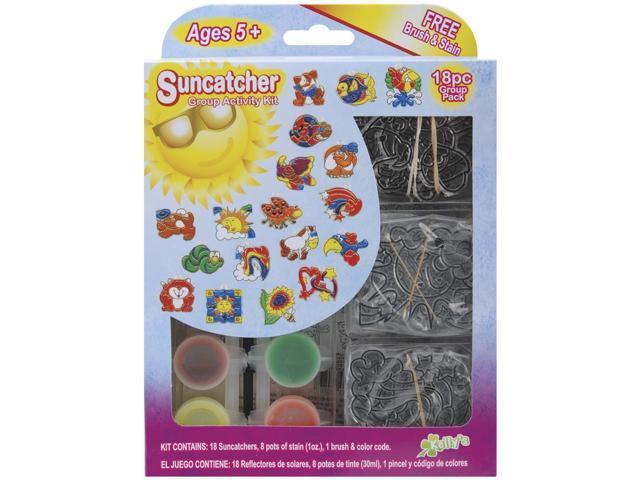 Suncatcher Group Activity Kit-Fun Animals 18/Pkg