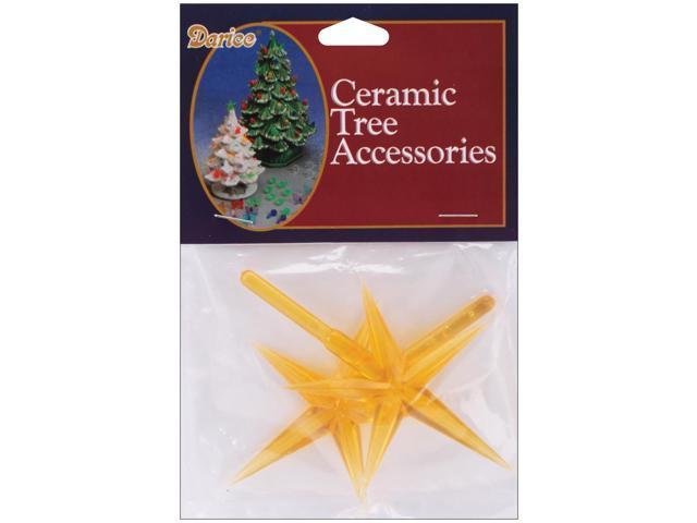 Ceramic Christmas Tree Stars 3.875