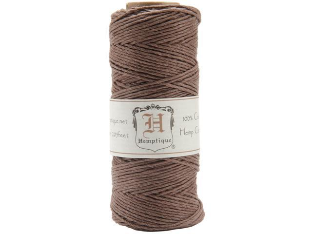 Hemp Cord Spool 20lb 205'-Dark Brown