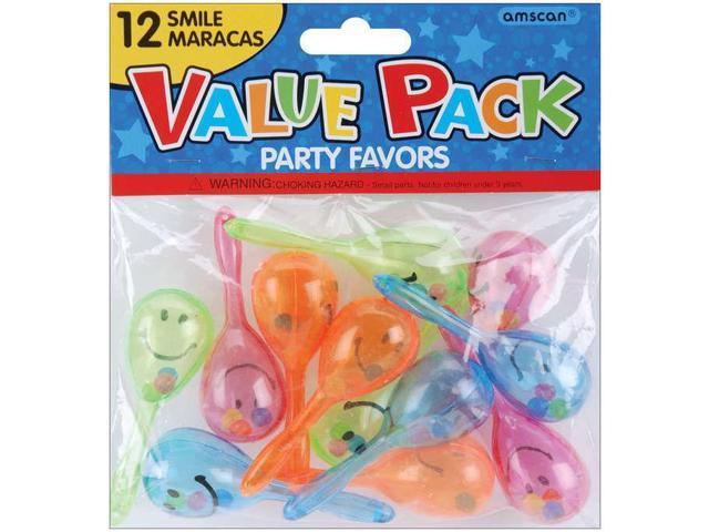 Party Favors 12/Pkg-Smile Maracas