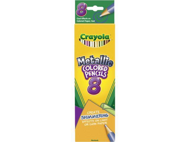 Crayola Metallic Colored Pencils-8/Pkg Long