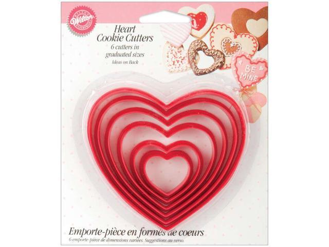 Nesting Plastic Cookie Cutters 6/Pkg-Hearts