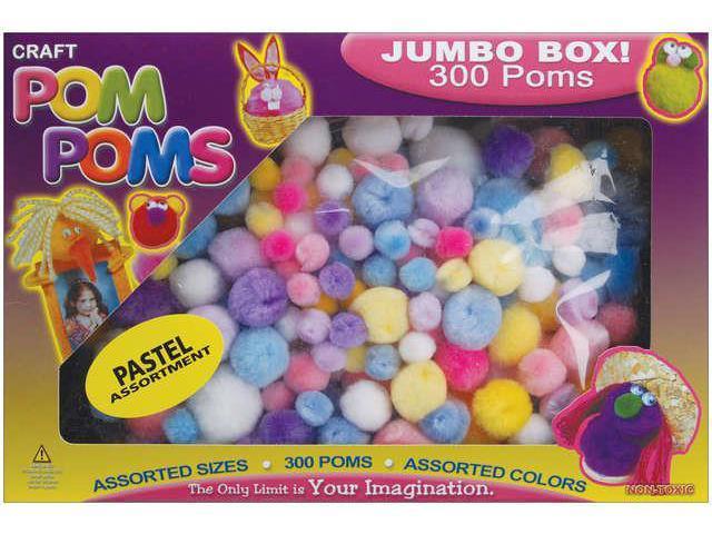 Pom-Poms Assorted 300/Pkg-Pastel