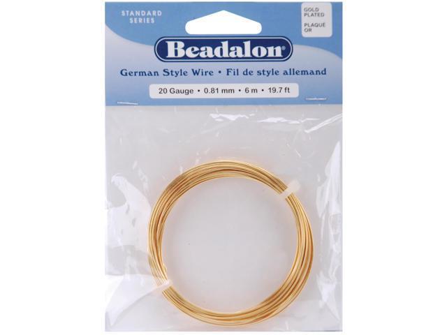 German Style Wire-Gold Round - 20 Gauge, 19.7'