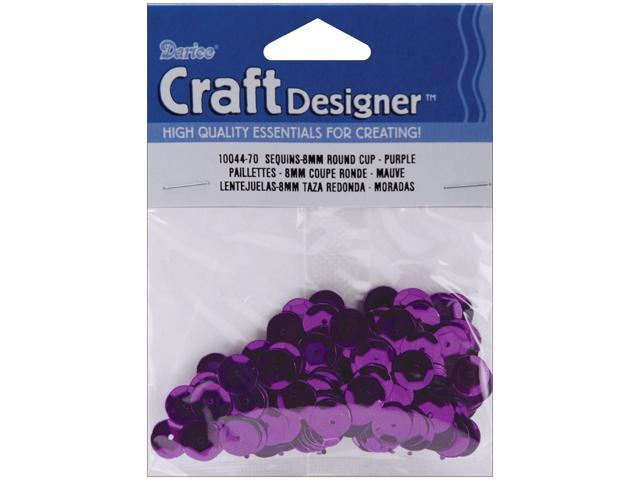 Cupped Sequins 8mm 200/Pkg-Purple