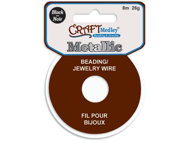 Jewelry Beading Wire 26 Gauge 26'-Black