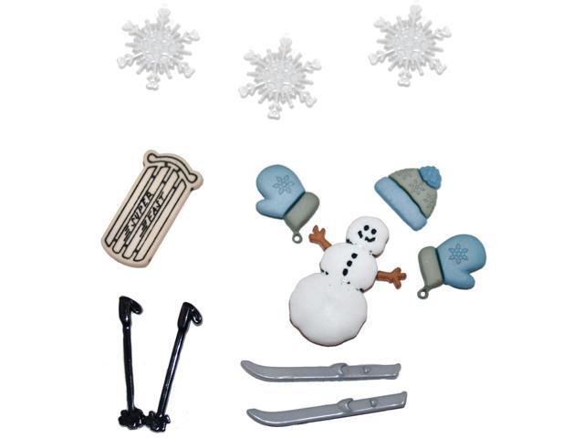 Dress It Up Holiday Embellishments-Dashing Through The Snow