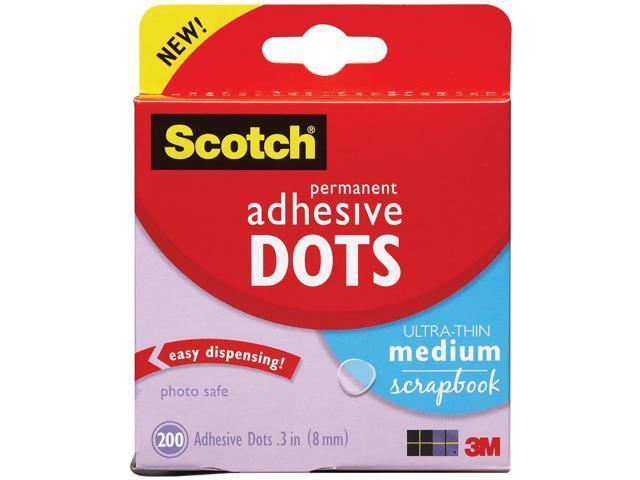 Scotch Permanent Adhesive Dots-Ultra-Thin Medium Scrapbook .3