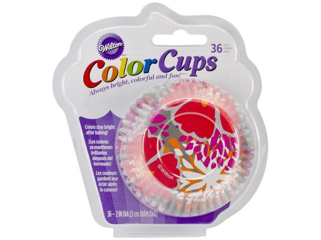 ColorCup Standard Baking Cups-Gray Flower 36/Pkg